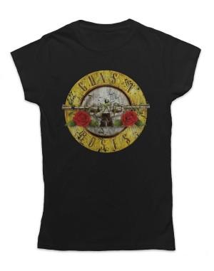 Guns N Roses Women's Vintage Bullet Logo T-Shirt