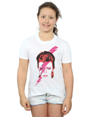 David Bowie Girls Aladdin Sane Lightning Bolt T-Shirt