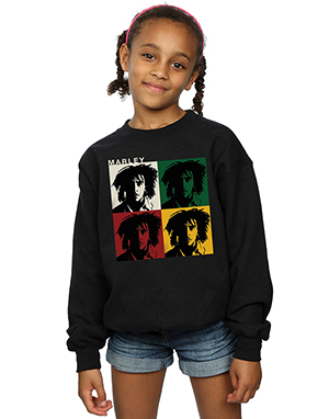 Bob Marley Girls Colour Blocks Sweatshirt