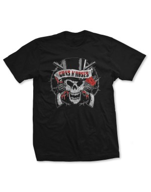 Guns N Roses Men's Distressed Death's Head T-Shirt
