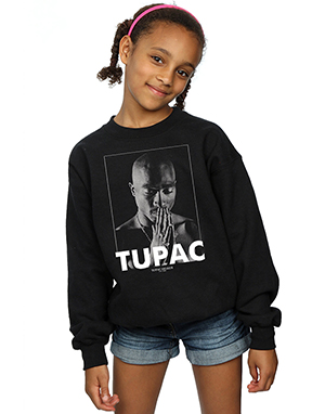 2Pac Girls Tupac Shakur Praying Sweatshirt