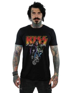 Kiss Men's Neon Band T-Shirt