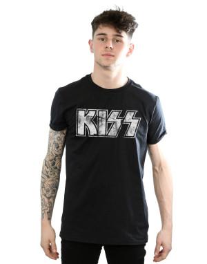 Kiss Men's Distressed Logo T-Shirt