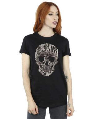 Aerosmith Women's Skull Boyfriend Fit T-Shirt