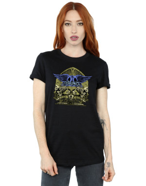 Aerosmith Women's Guitar Skeletons Boyfriend Fit T-Shirt