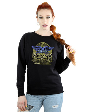Aerosmith Women's Guitar Skeletons Sweatshirt
