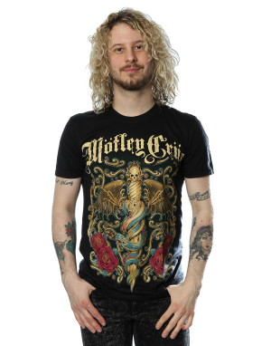 Motley Crue Men's Exquisite Dagger T-Shirt