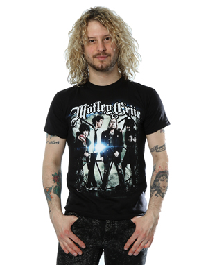Motley Crue Men's Group Shot Photo T-Shirt