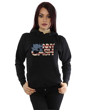 Johnny Cash Women's American Fill Hoodie