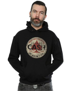 Johnny Cash Men's Man in Black Circle Hoodie