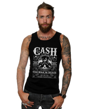 Johnny Cash Men's Whiskey Label Vest