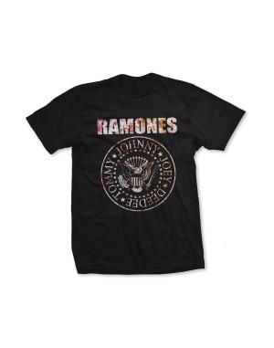 Ramones Girls Flower Rose T-Shirt
