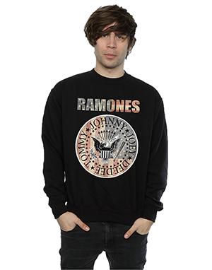 Ramones Men's Flag Seal Sweatshirt