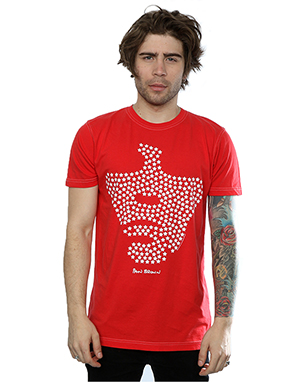Aftershow Men's Ian Brown Star Face T-Shirt