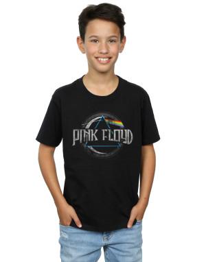 Pink Floyd Boys Dark Side of the Moon Circular Logo T-Shirt