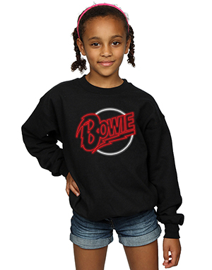 David Bowie Girls Neon Logo Sweatshirt