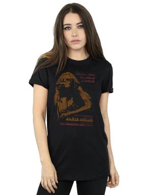 Janis Joplin Women's Madison Square Garden Boyfriend Fit T-Shirt