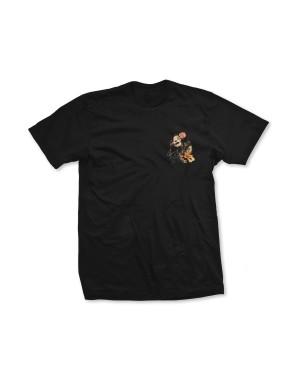 Janis Joplin Boys Floral Faux Pocket T-Shirt