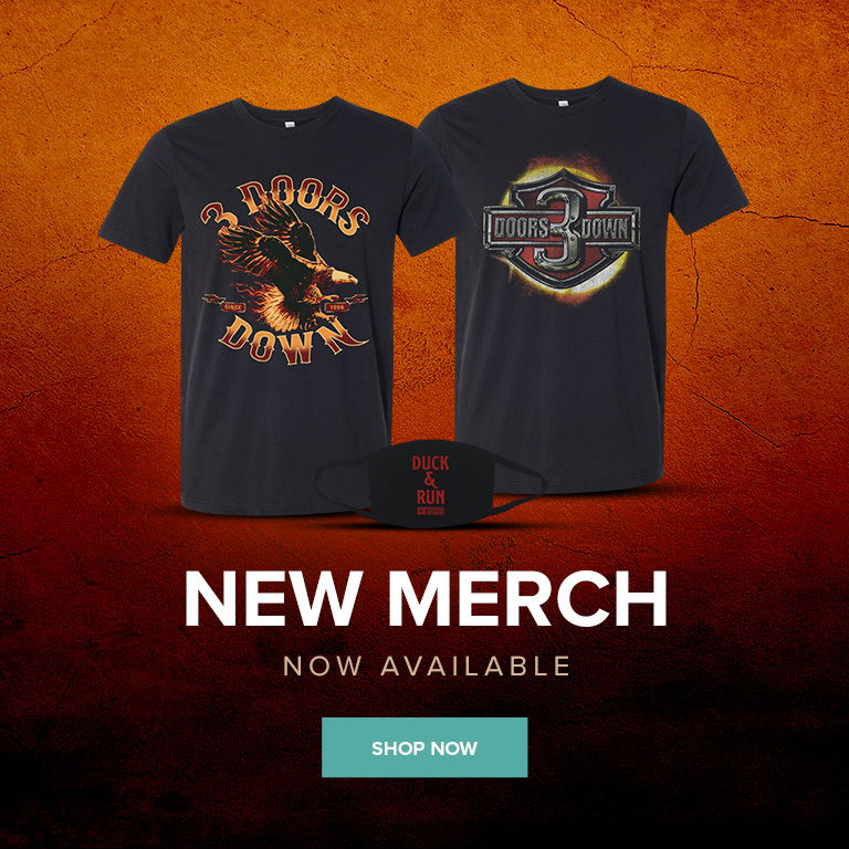 3 Doors Down - New Merchandise - Available Now