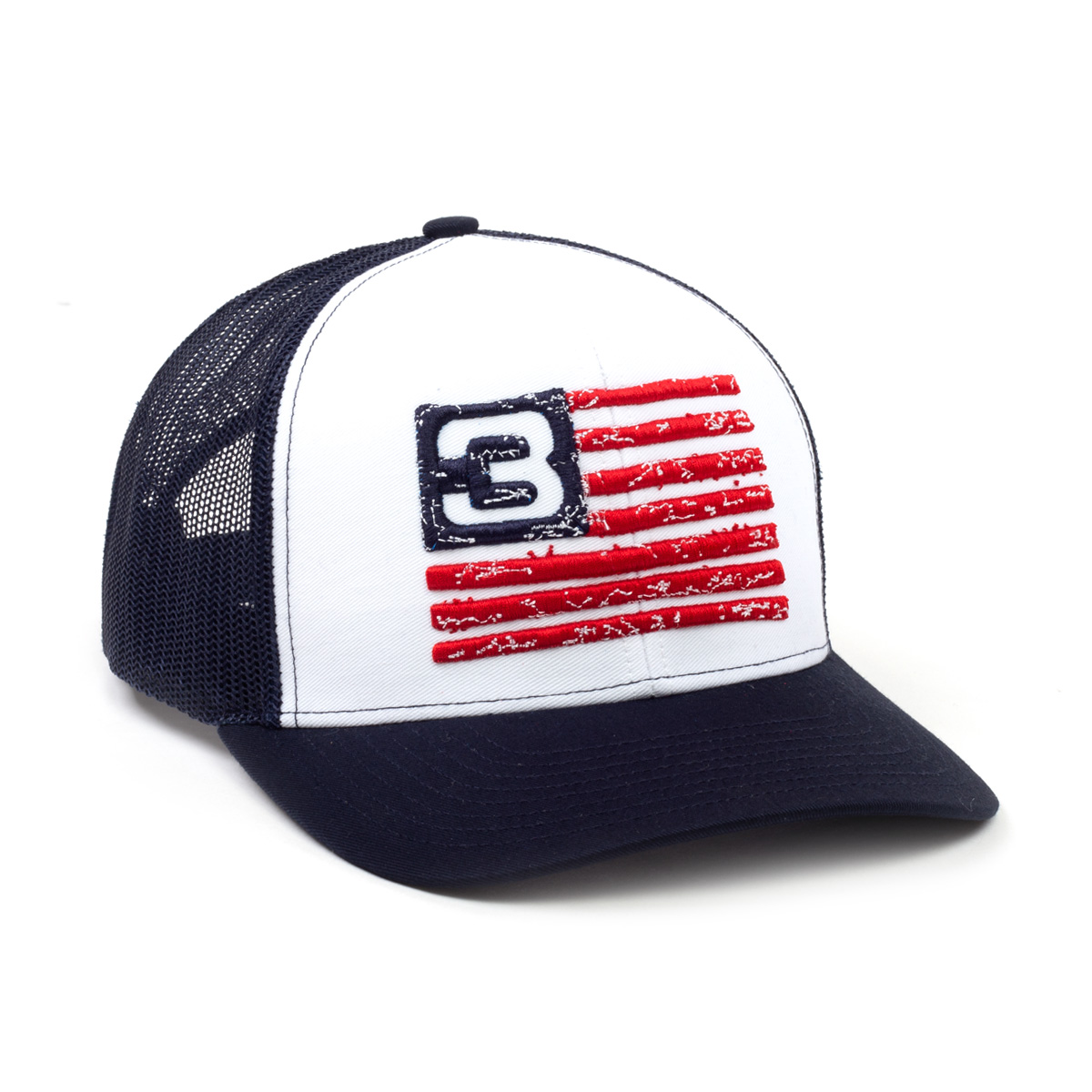 3DD White/Black Flag Snapback