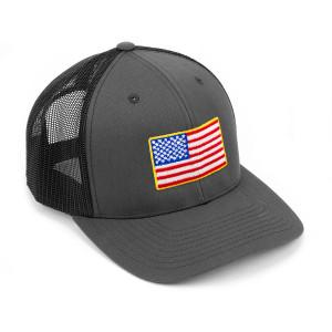 Charcoal/Black Flag Snapback