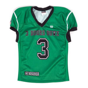 3 Doors Down Green Authentic Football Jersey