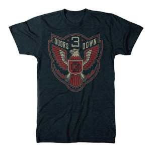 3 Doors Down Eagle Emblem T-Shirt