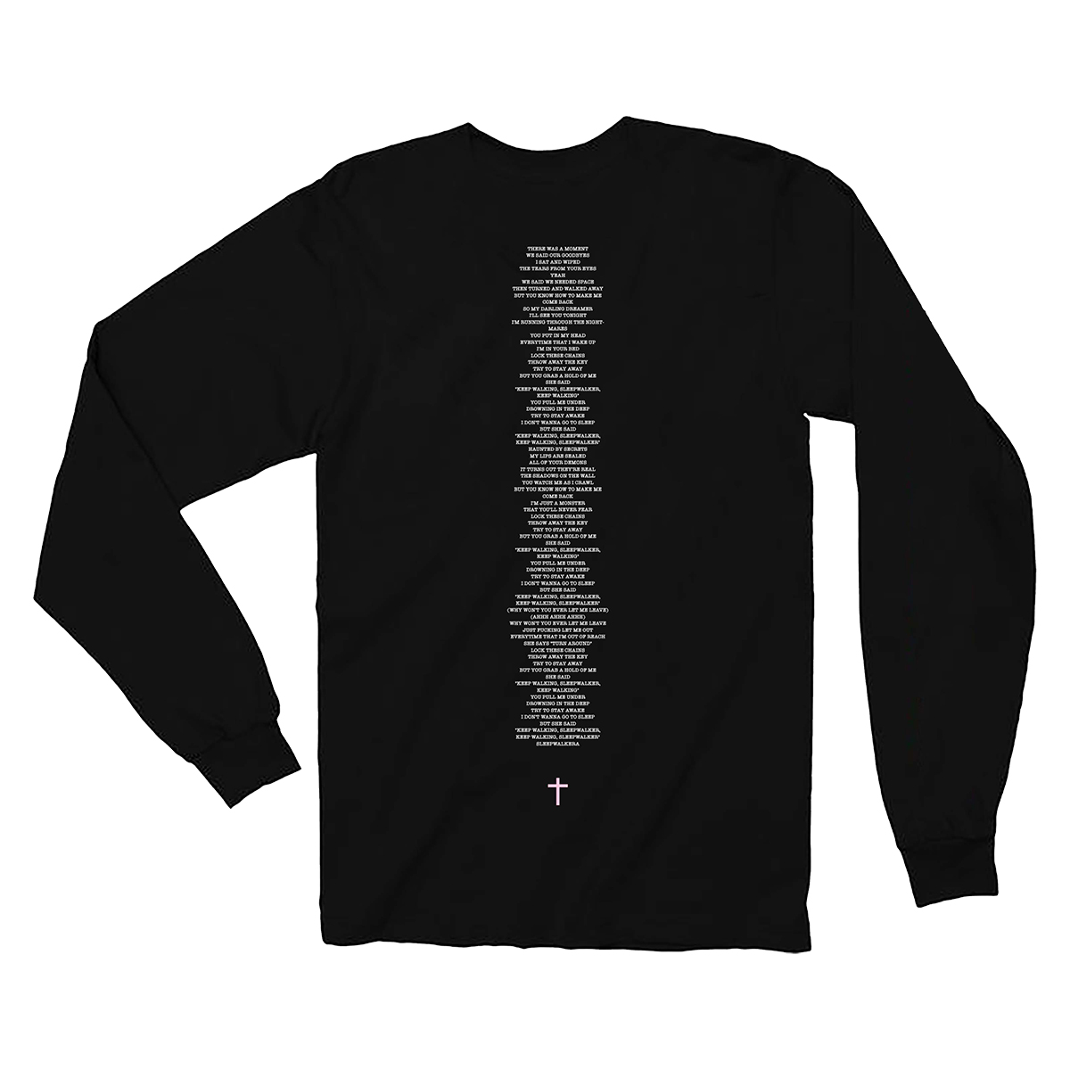 Yin Yang Long Sleeve Black T-shirt