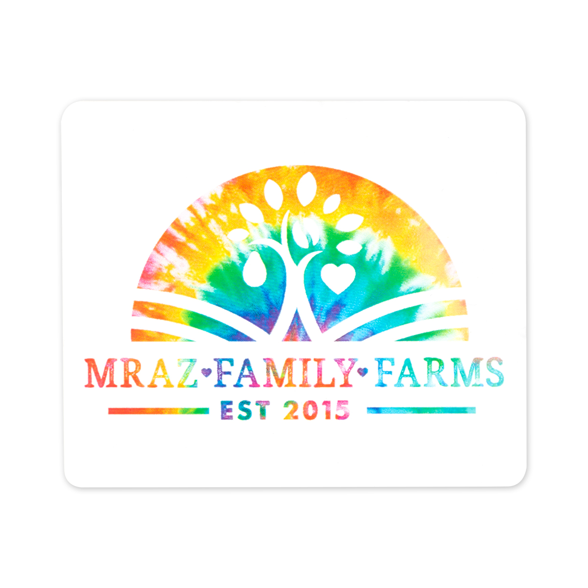 Mraz Family Farms Tye Die Sticker