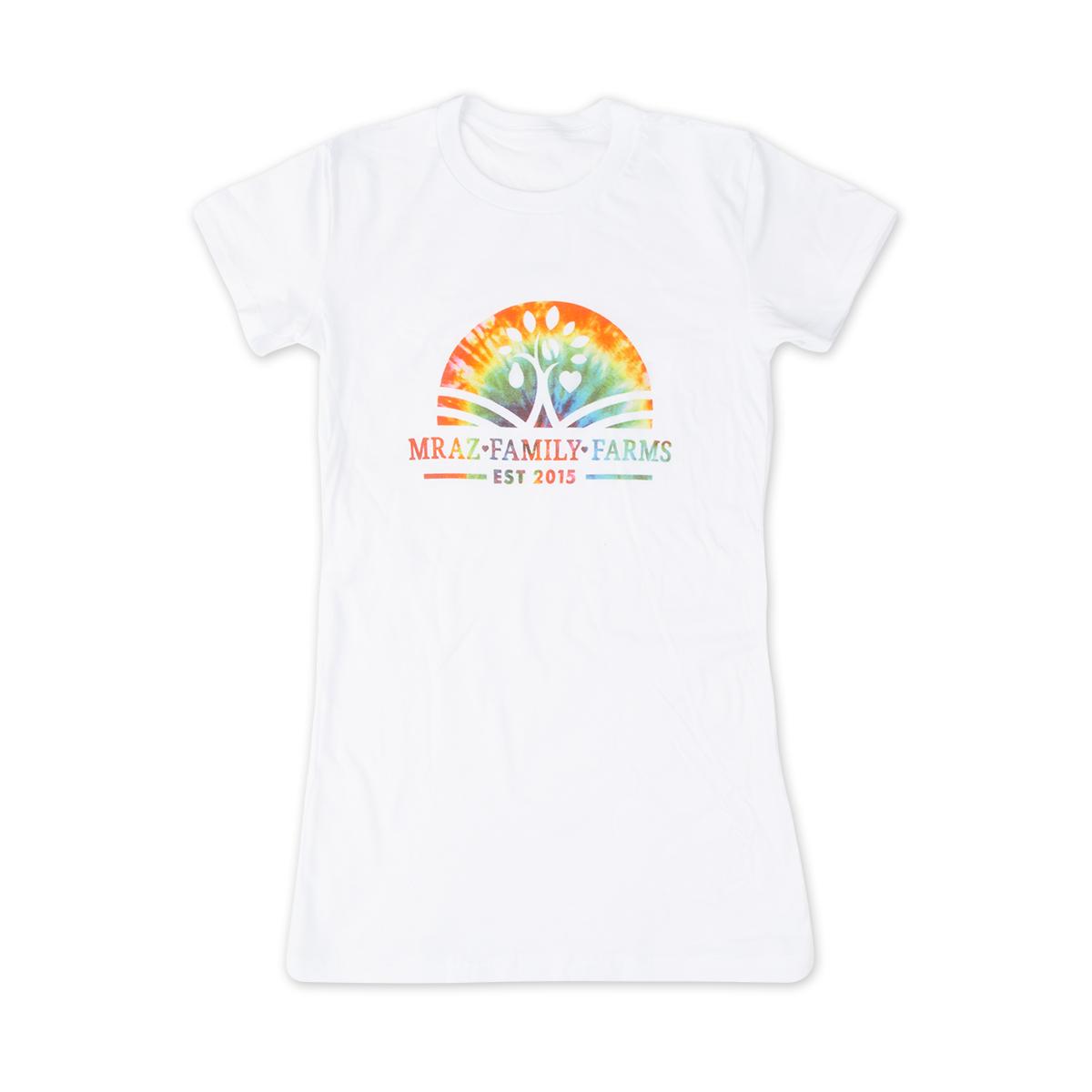 Mraz Family Farms Womens Rainbow T-shirt