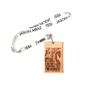 Jason Mraz VIP Avocado Wood Souvenir Pass