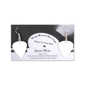 Jason Mraz  Vinyl Record Earrings (White)