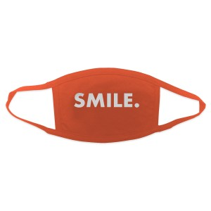 Jason Mraz Smile. Face Mask - Orange