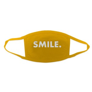 Jason Mraz Smile. Face Mask - Yellow