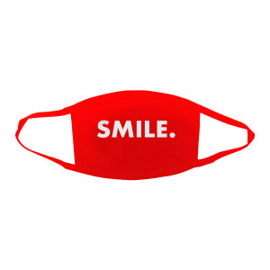 Jason Mraz Smile. Face Mask - Red