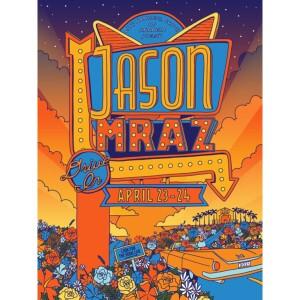 Jason Mraz April 2021 Signed Event Poster