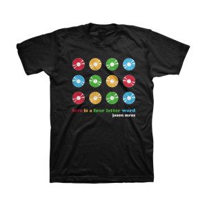 Jason Mraz 2015 Love Is A Four Letter Word T-shirt