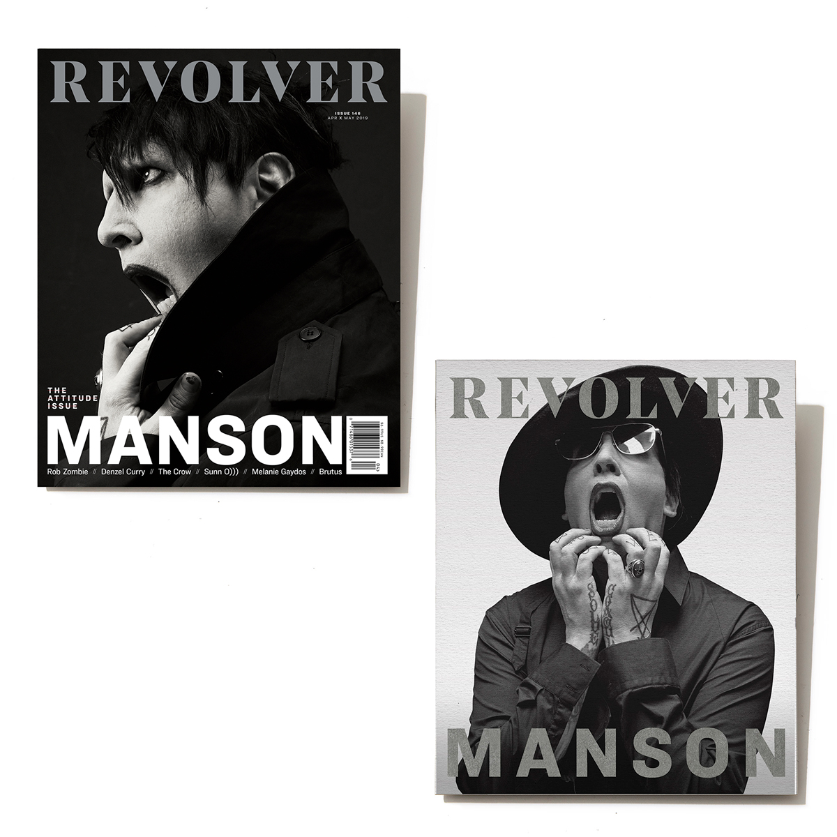 SILVER COLLECTOR'S EDITION APR/MAY 2019 ISSUE — MARILYN MANSON — ONLY 250 MADE | Shop the Revolver Magazine Official Store