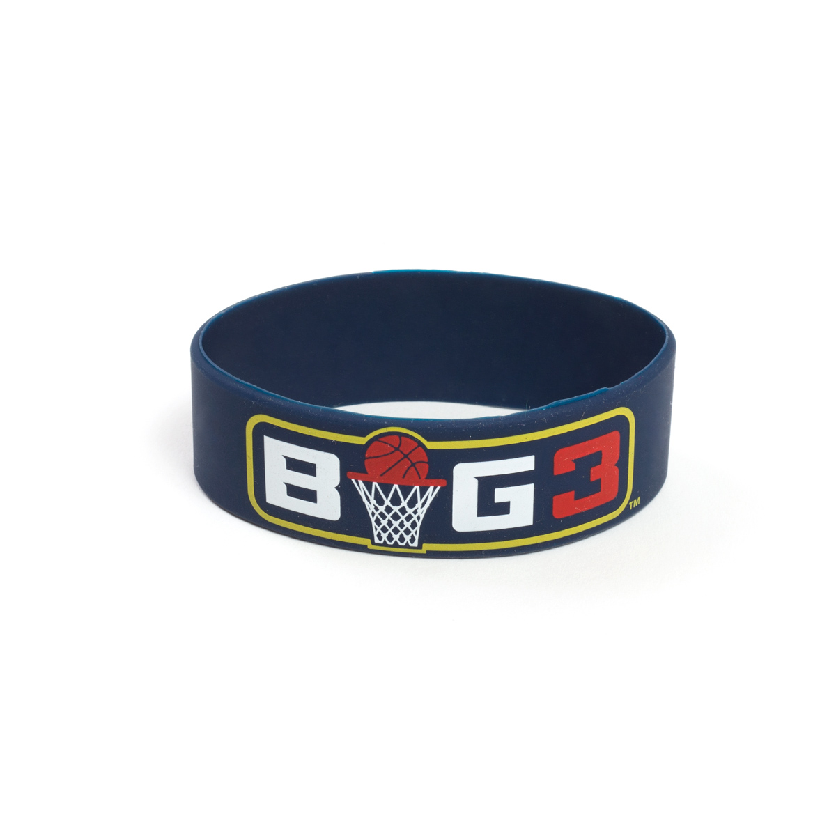 BLUE BIG3 RUBBER BRACELET