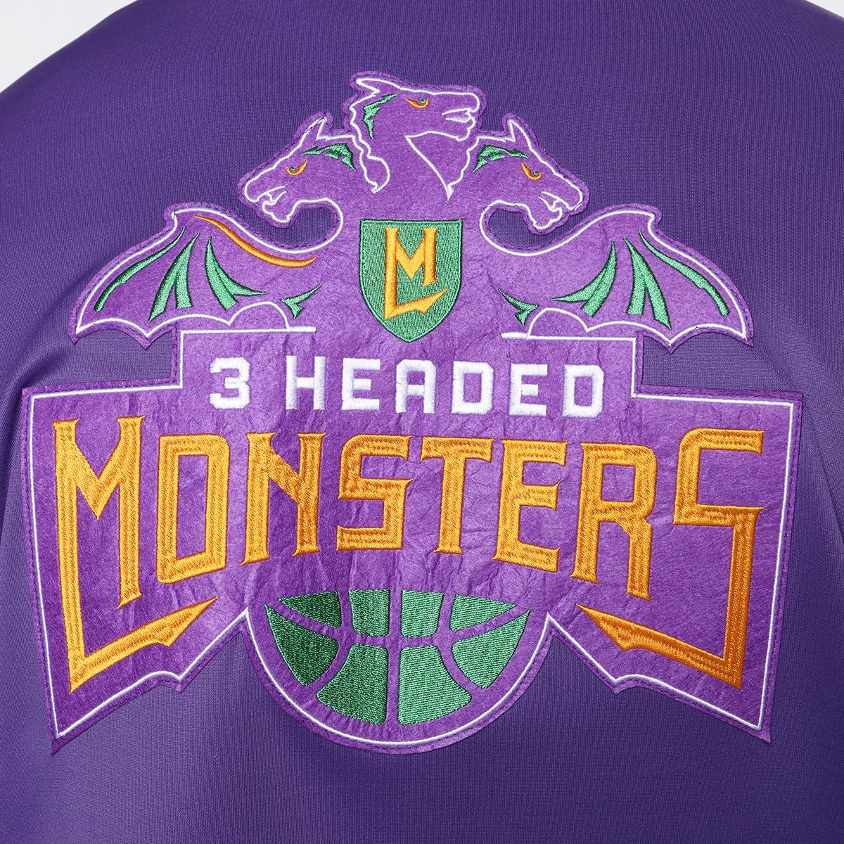 Team 3 Headed Monsters Jacket - Purple