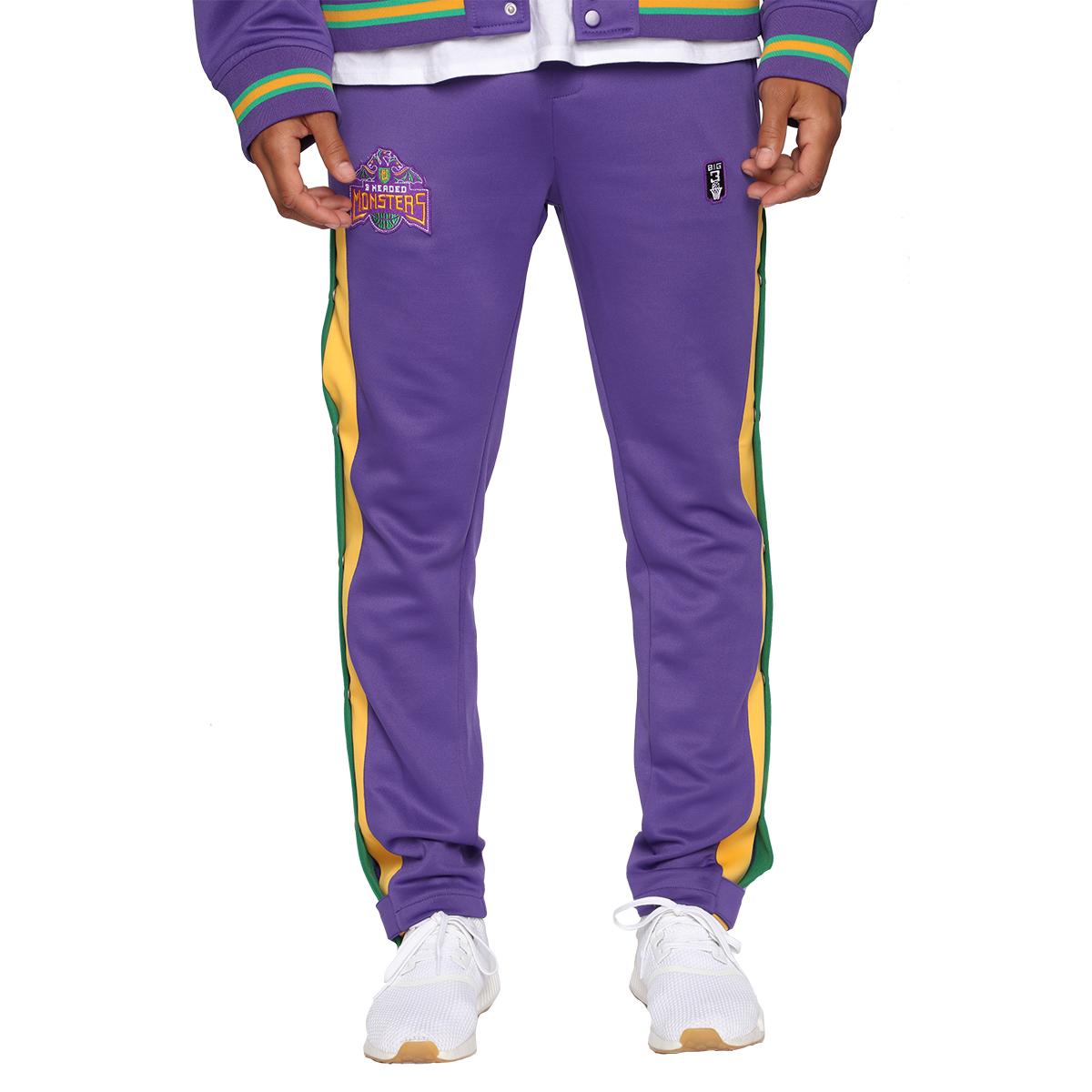 Team 3 Headed Monsters Joggers - Purple