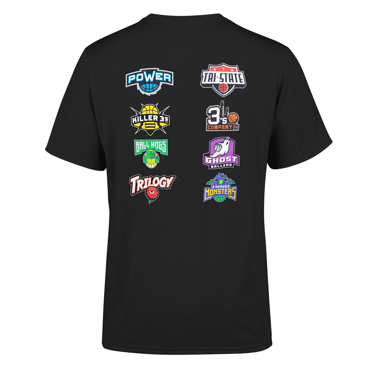 Big3 Black Team Logo T-shirt