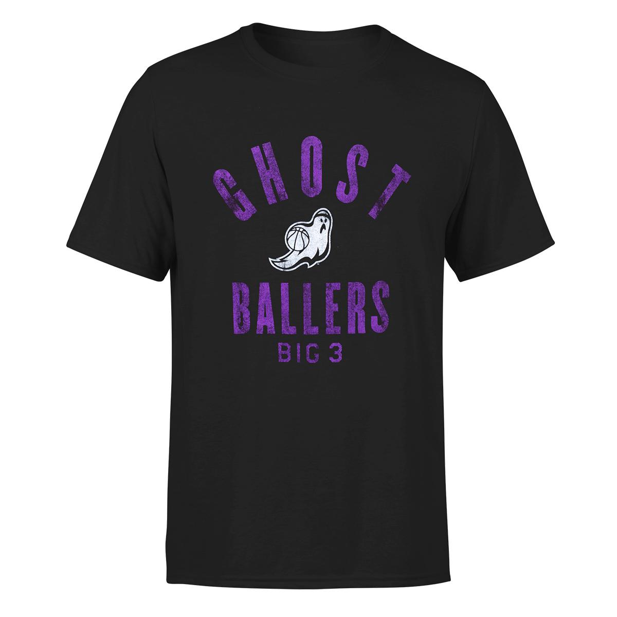 Ghost Ballers - Big 3 Black T-Shirt