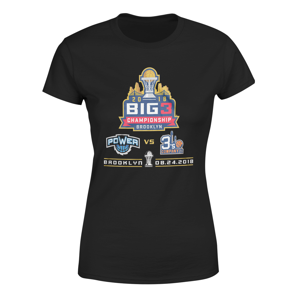 2018 Big3 Championship Black Ladies T-shirt