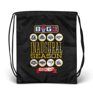 2017 Inaugural Season Black Drawstring Bag