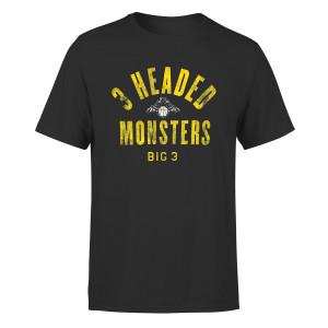 3 Headed Monsters Black T-shirt