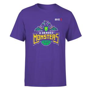 3 Headed Monster Rush Purple T-Shirt