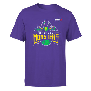 3 Headed Monster Rush Purple T-Shirt