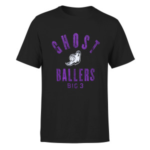 Ghost Ballers - Big 3 Black T-Shirt
