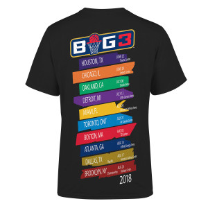 BIG3 TEAM 8 BLACK T-SHIRT